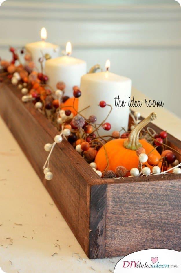 15 Herbst Tischdeko Ideen zum selber machen - mit Kürbissen dekorieren
