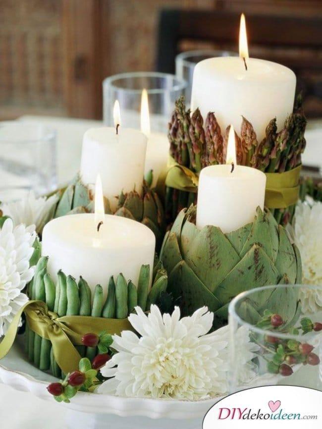 15 Herbst Tischdeko Ideen zum selber machen - Gemüse Deko
