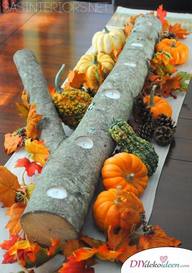 15 Herbst Tischdeko Ideen zum selber machen - Tischschmuck basteln