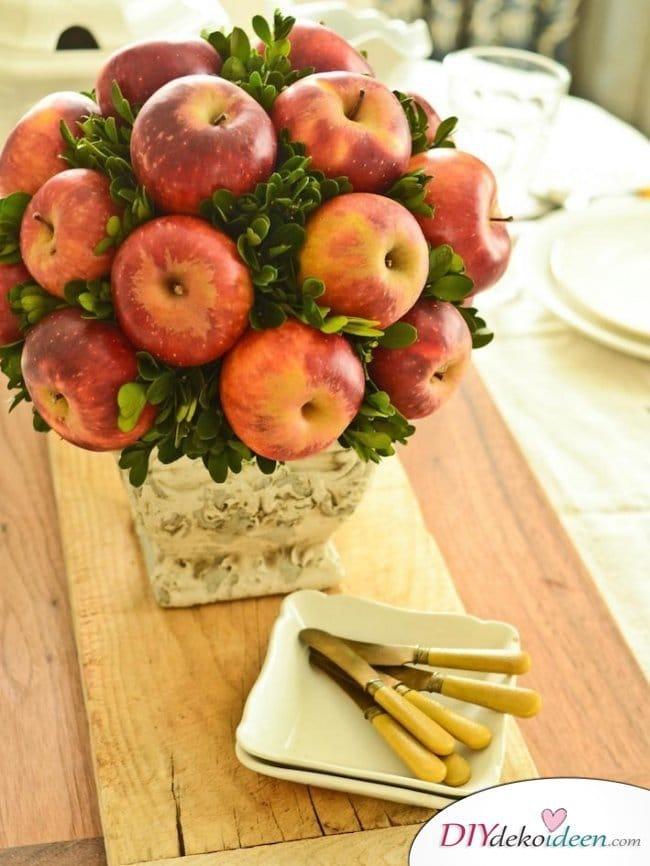 15 Herbst Tischdeko Ideen zum selber machen - Obst Tischdeko