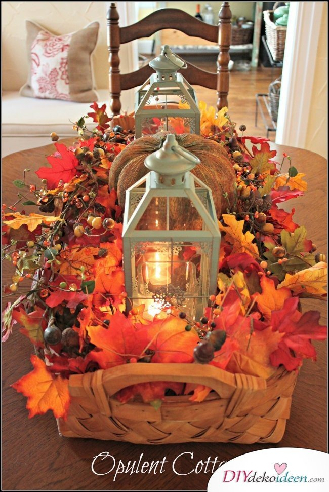 15 Herbst Tischdeko Ideen zum selber machen - DIY Dekoideen