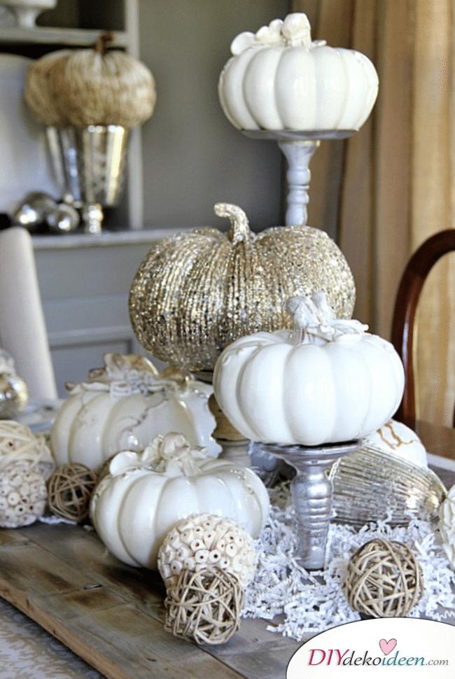 15 Herbst Tischdeko Ideen - Kürbis Deko selber machen