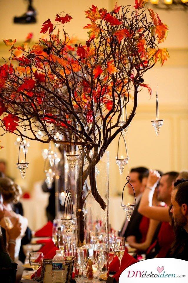 15 Herbst Tischdeko Ideen - Herbst Hochzeit Deko