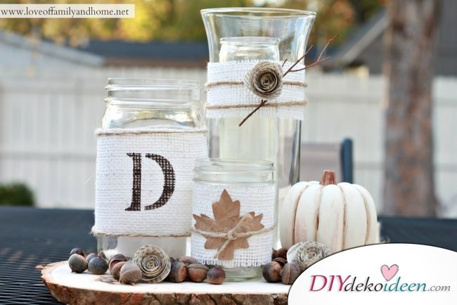 15 Herbst Tischdeko Ideen - Herbst basteln