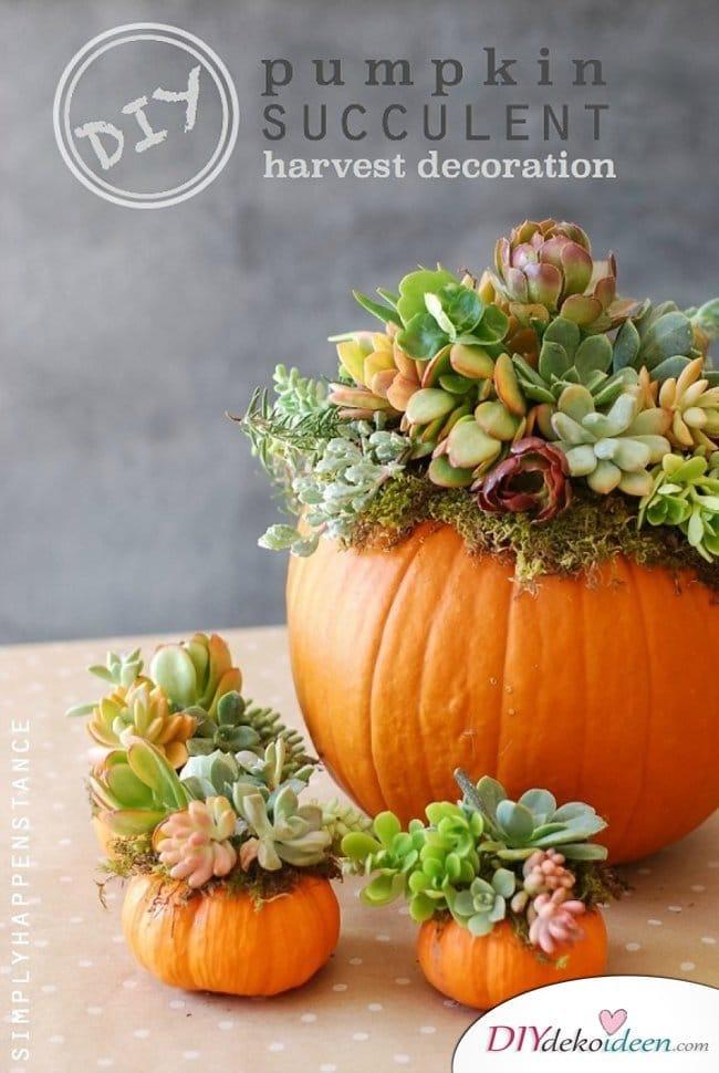 15 Herbst Tischdeko Ideen - Kürbis Tischdeko
