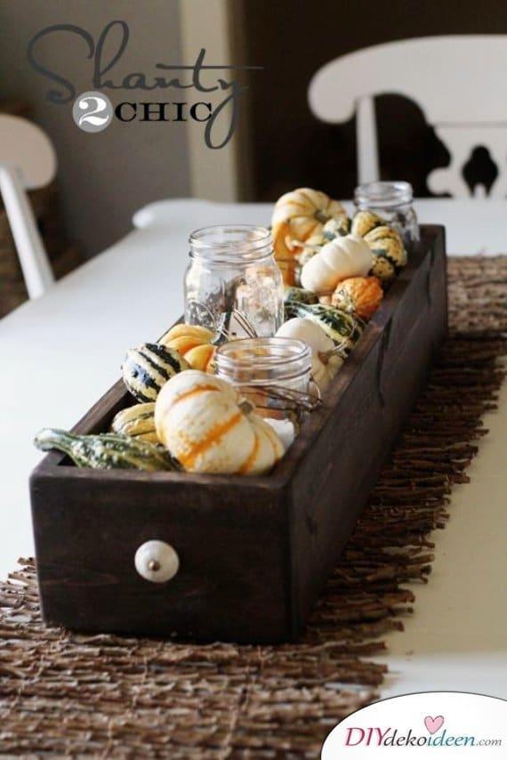 15 Herbst Tischdeko Ideen - dekorieren Kürbis