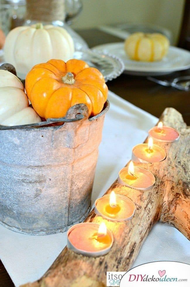 15 Herbst Tischdeko Ideen - Deko mit Kürbissen