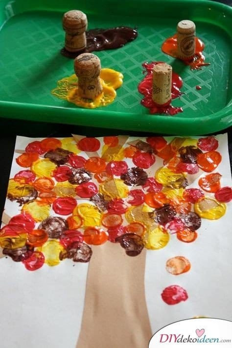 DIY Bastelideen - Herbstdeko basteln mit Kindern