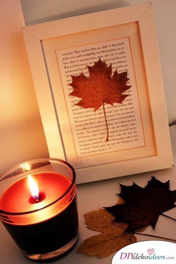 Herbstdeko selber machen - 15 DIY Bastelideen - basteln mit Papier