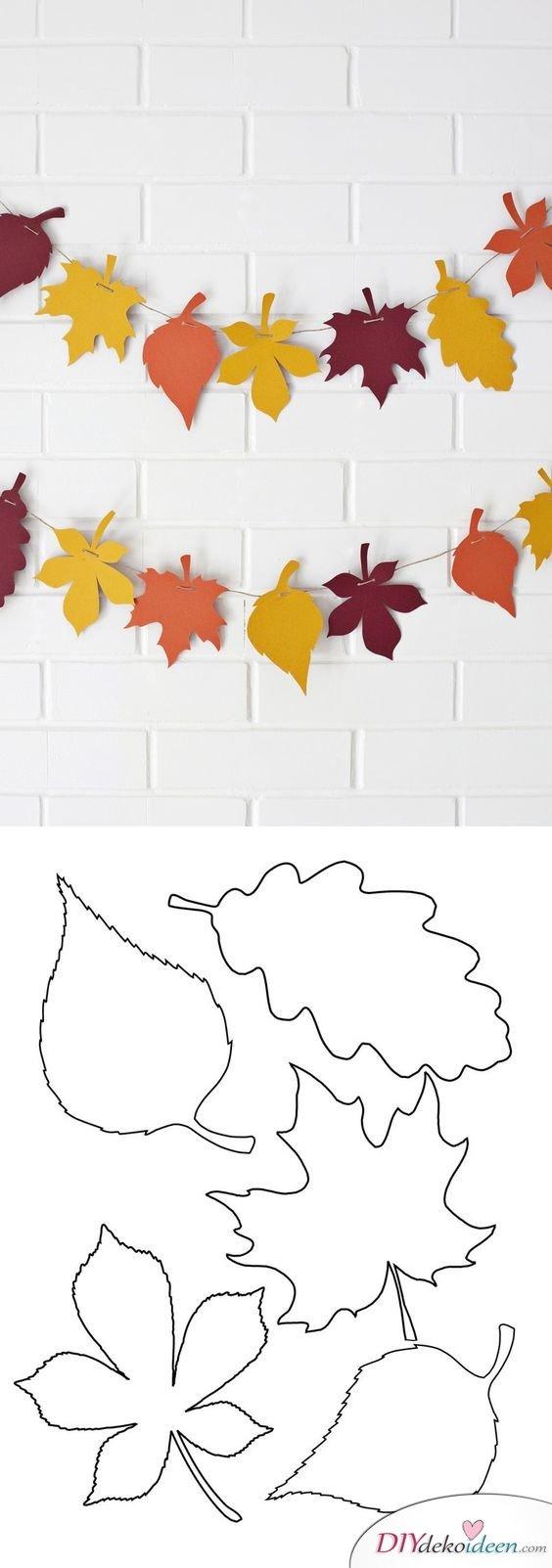 Herbstdeko selber machen - 15 DIY Bastelideen - bastel mit Papier