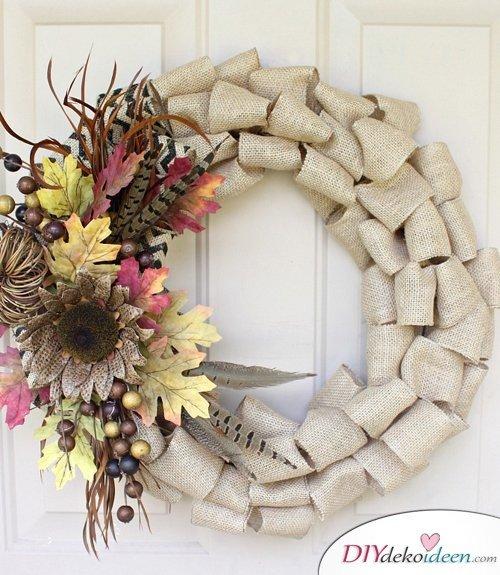 Herbstkränze selber machen - 15 DIY Bastelideen zum Herbst