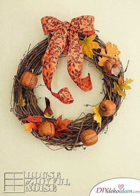 Herbstkränze selber machen - 15 DIY Bastelideen - Basteln im Herbst