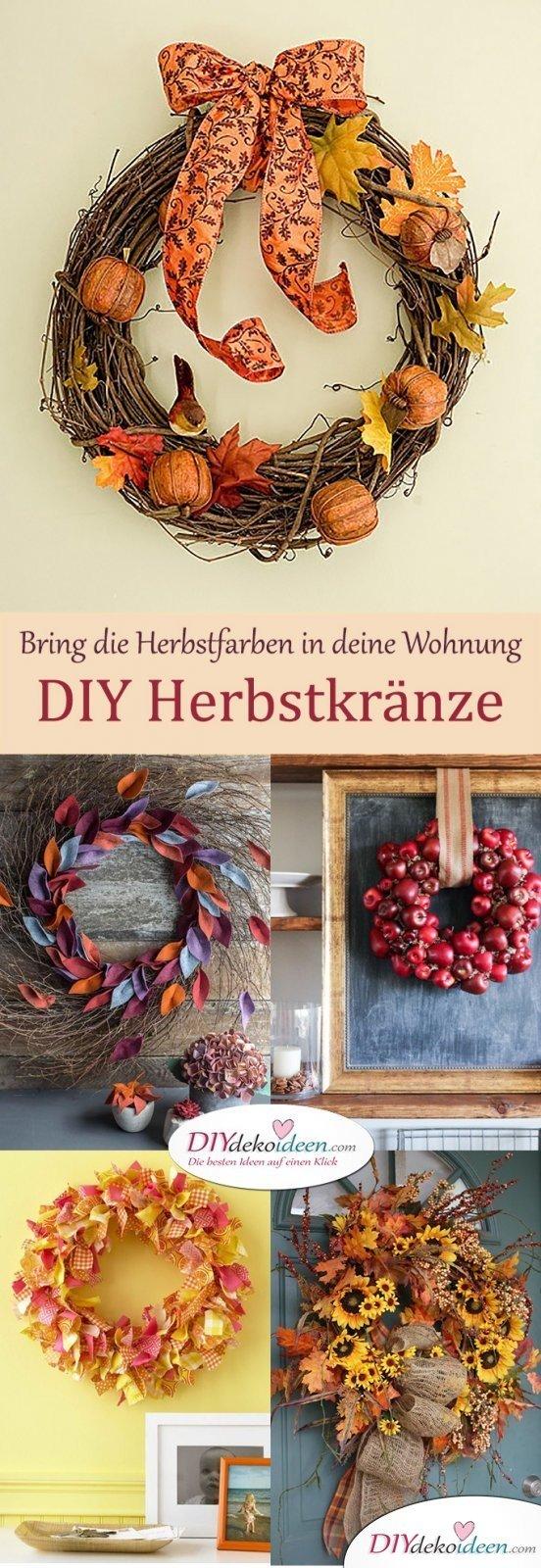 Herbstkränze selber machen - 15 DIY Bastelideen