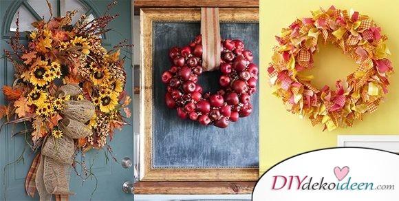 Bring die Herbstfarben in deine Wohnung – Herbstkränze selber machen