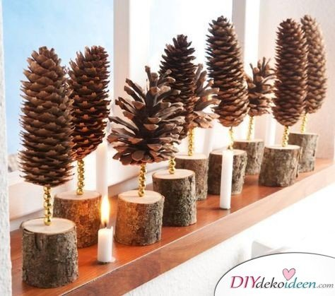 Making Christmas decorations with pine cones - DIY craft ideas - Pine cones Making decorations