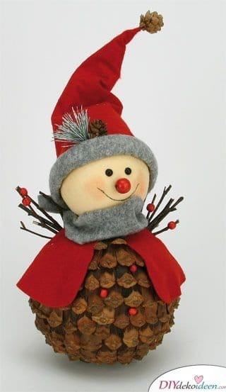 Make Christmas decorations with pine cones - DIY craft ideas - Make winter decorations
