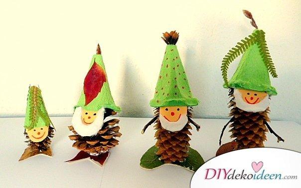 weihnachtsdeko basteln, weihnachtsdeko basteln mit tannenzapfen – wundervolle diy bastelideen, Design ideen