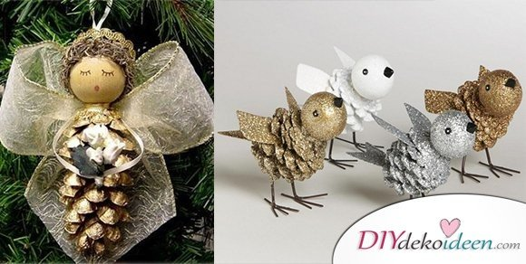 Basteln Weihnachtsdeko.Weihnachtsdeko Basteln Mit Tannenzapfen Wundervolle Diy