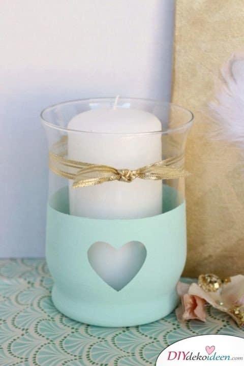 Bastelideen für DIY Weihnachtsgeschenke - Weihnachten Geschenke basteln - DIY Kerze verschenken