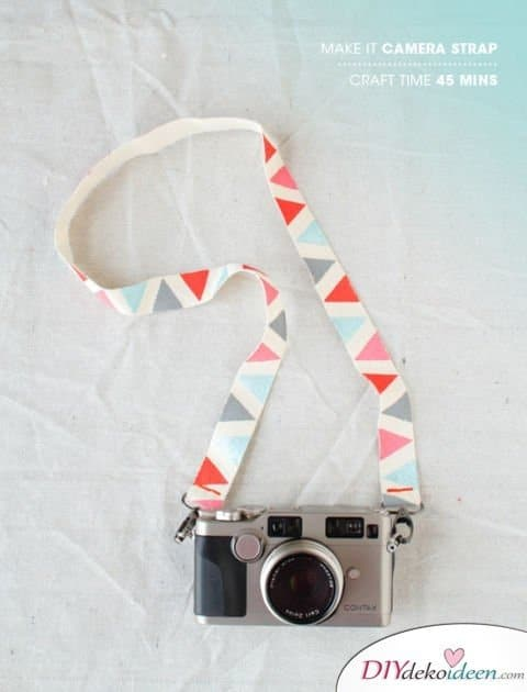 Die schönsten Ideen für günstige DIY Weihnachtsgeschenke -DIY Kameragurt