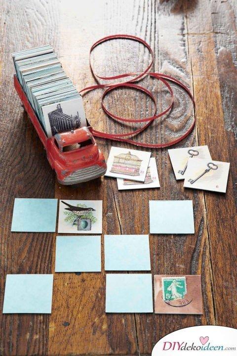 DIY Weihnachtsgeschenke - 15 Ideen und Anleitungen - Memory-Spiel - Geschenke basteln