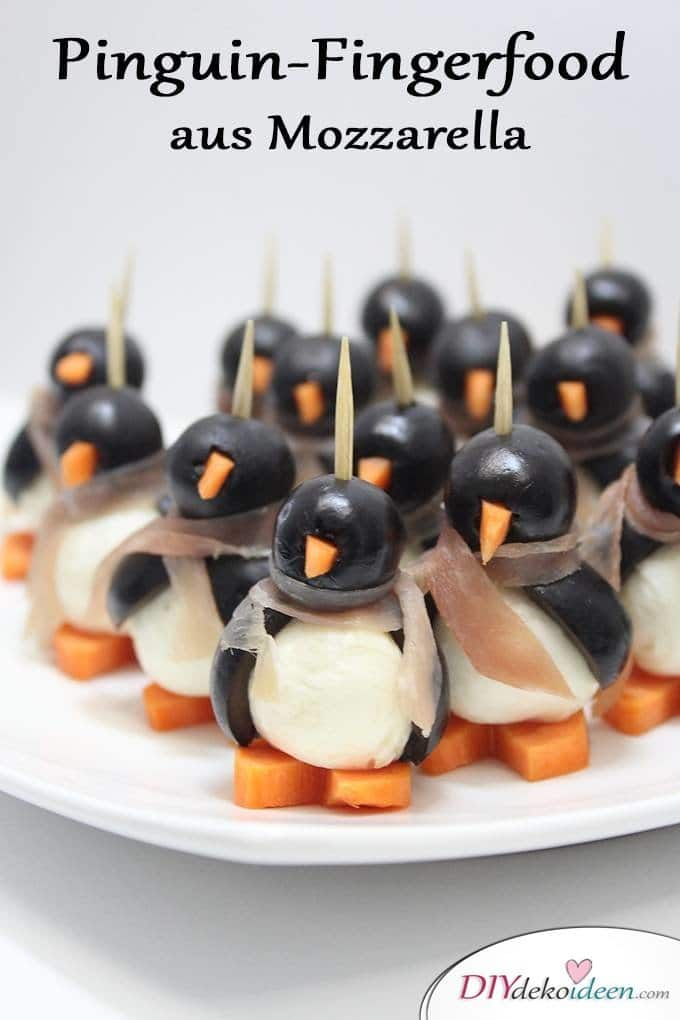 eure g ste werden vom pinguin fingerfood aus mozzarella begeistert sein. Black Bedroom Furniture Sets. Home Design Ideas