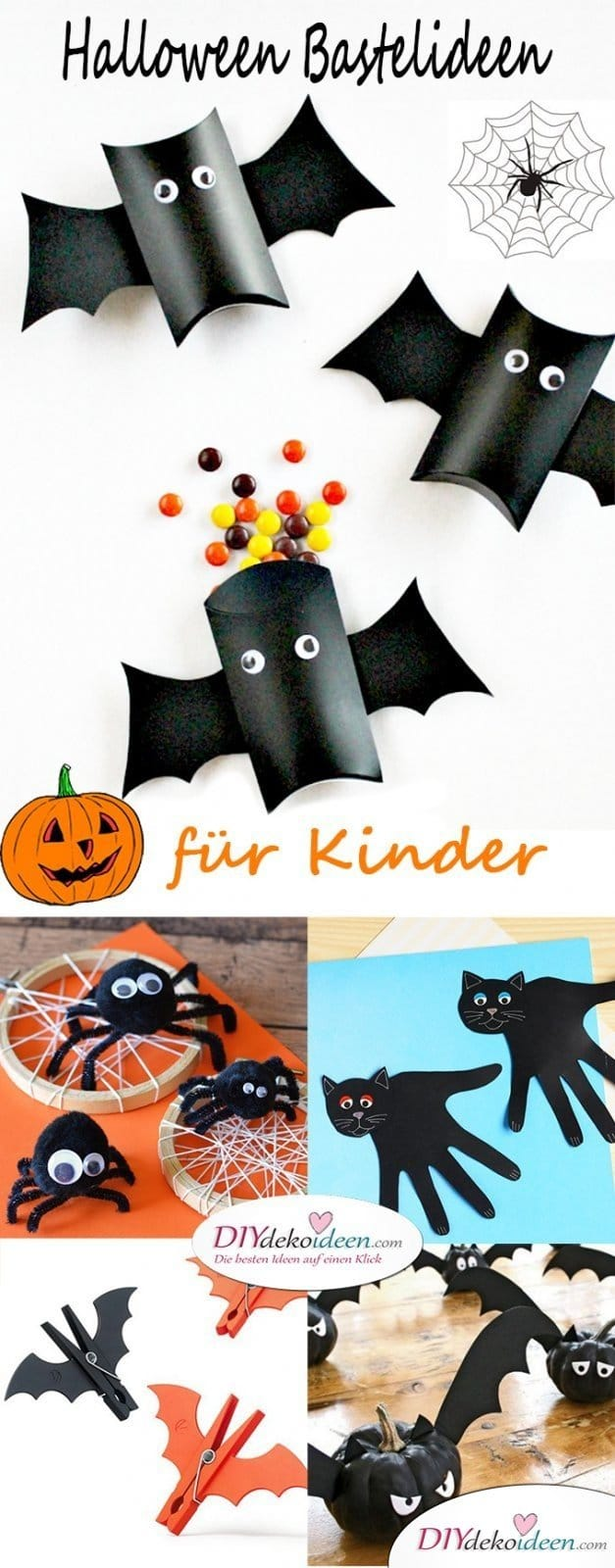 Halloween Bastelideen für Kinder - DIY Bastelideen for the whole family