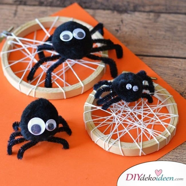 Halloween Bastelideen für Kinder - DIY Bastelideen - Halloweendeko selber machen