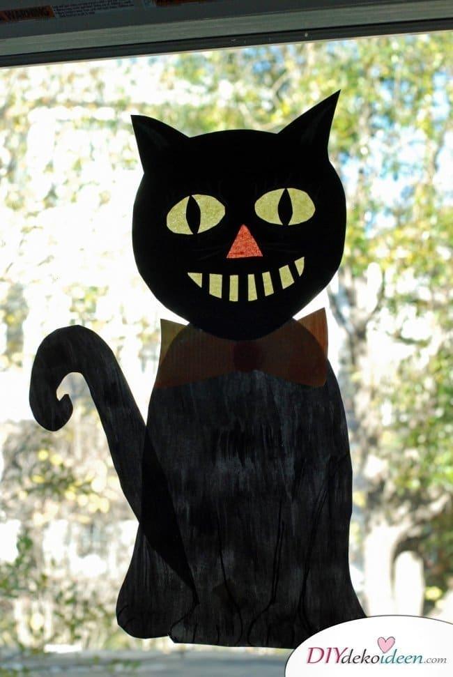 Halloween Bastelideen für Kinder - DIY Bastelideen - Fensterbild basteln