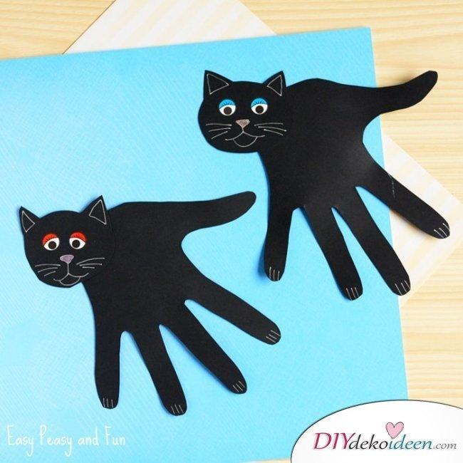 Halloween Bastelideen für Kinder - DIY Bastelideen - basteln mit Papier