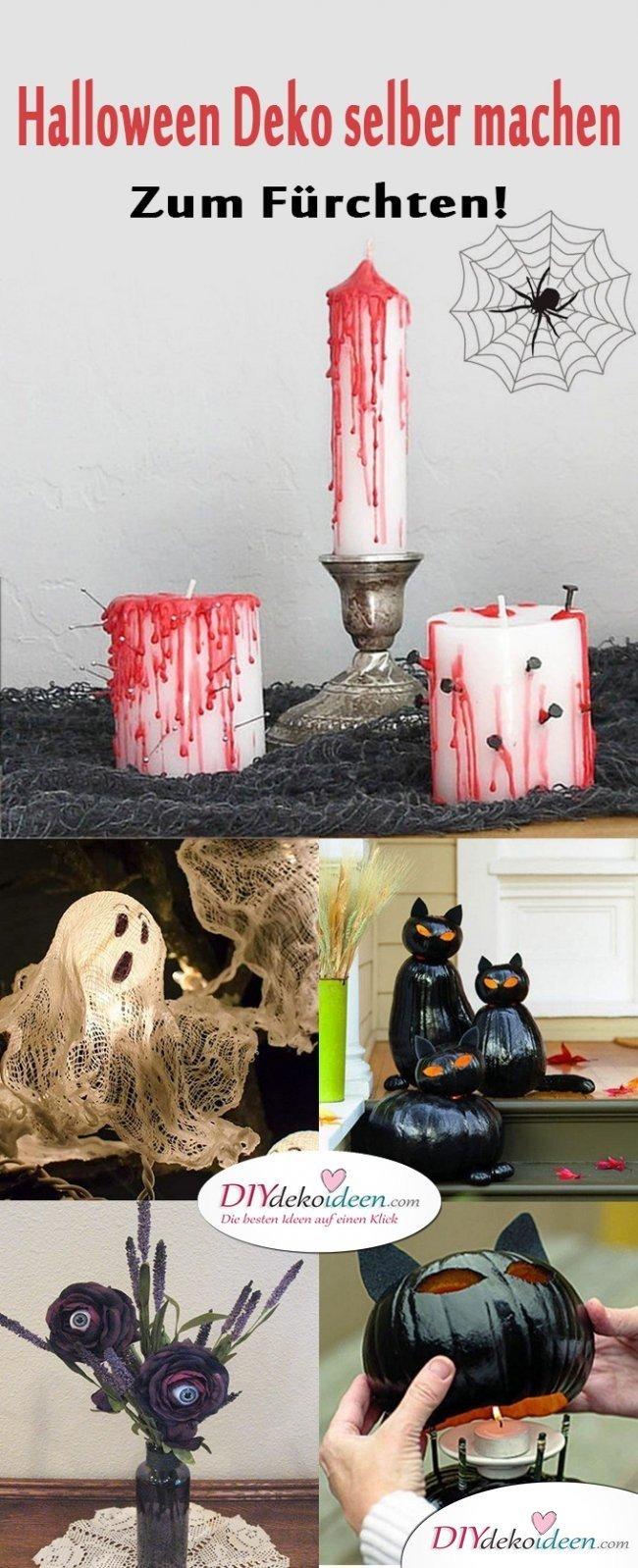 Schrecklich gruselige Halloween Deko selber machen - DIY Bastelideen zu Halloween