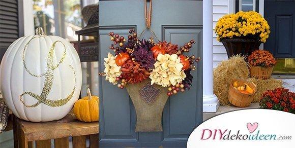 DIY Ideen für herbstliche Halloween Veranda Deko mit Stil