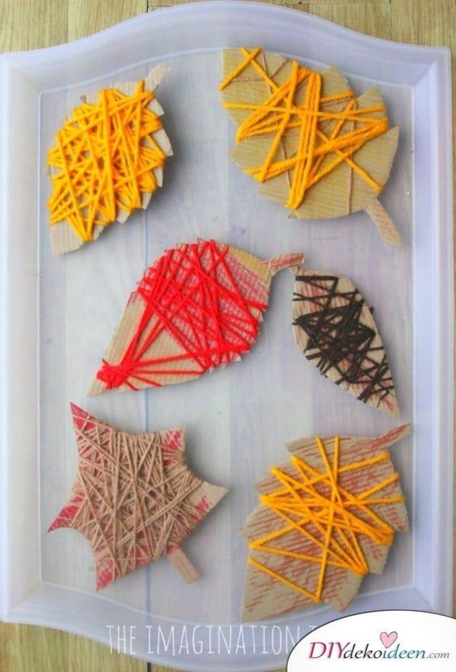 Herbstbasteln für Kinder - Leichte DIY Bastelideen - Herbst basteln