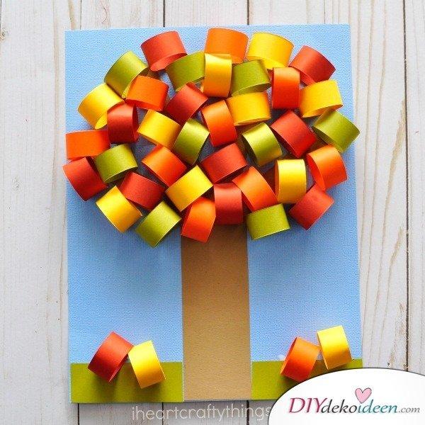 Herbstbasteln für Kinder - Leichte DIY Bastelideen - mit Kindern basteln