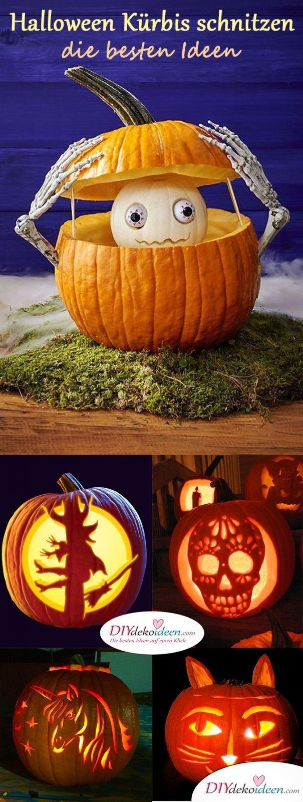 Kürbis schnitzen zu Halloween - Das sind die besten Ideen zum Gruselfest