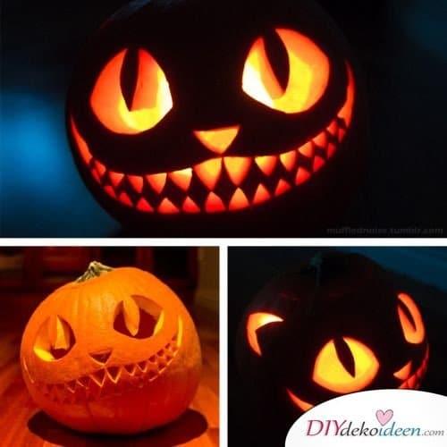 Kürbis schnitzen zu Halloween - Kürbislaternen