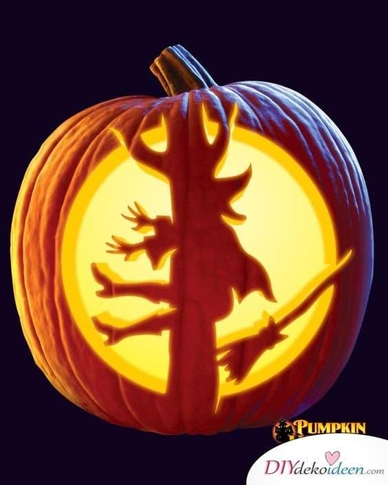 Kürbis schnitzen - Halloween Kürbis Laternen schnitzen - Ideen