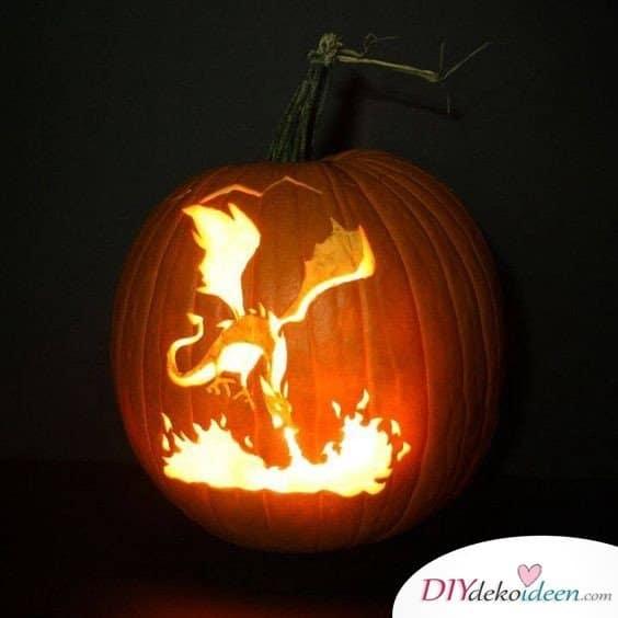 Kürbis schnitzen - Kürbislaternen schnitzen - Ideen zu Halloween