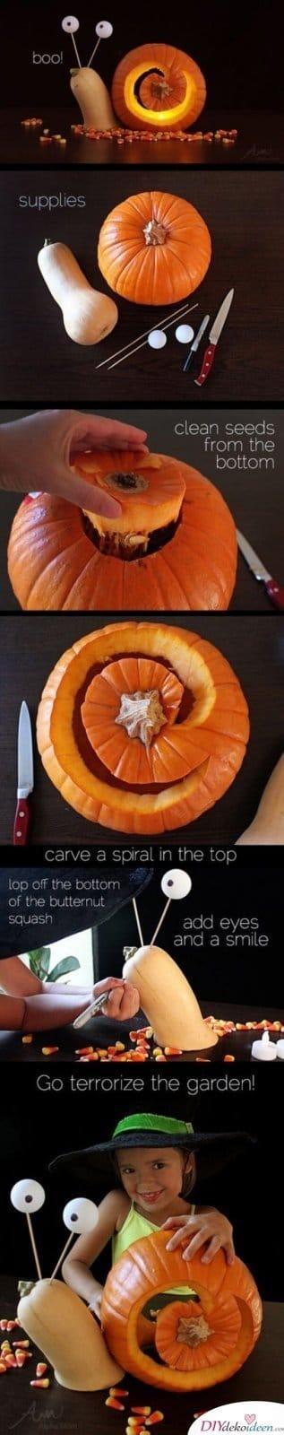 Kürbis schnitzen - Halloweenkürbis schnitzen - Halloween Kürbislaternen Ideen