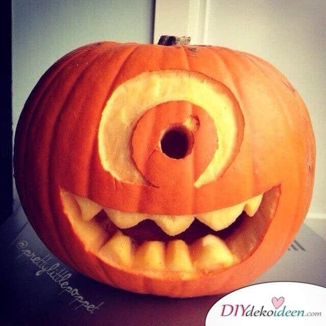 Kürbis schnitzen - Kürbis Laterne schnitzen - Ideen für Halloween