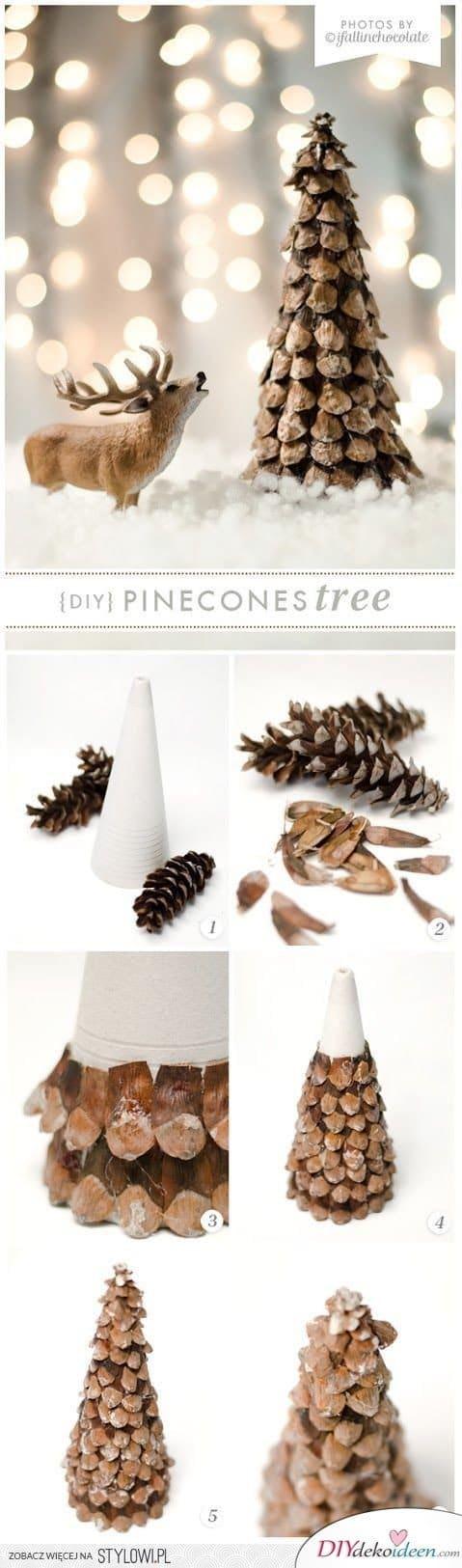 Zu Weihnachten basteln - DIY Bastelideen - Weihnachtsbaum basteln