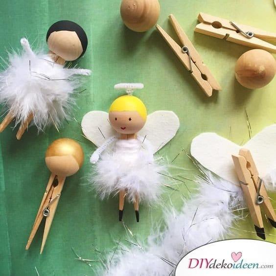 Zu Weihnachten basteln - DIY Bastelideen - Engelchen basteln