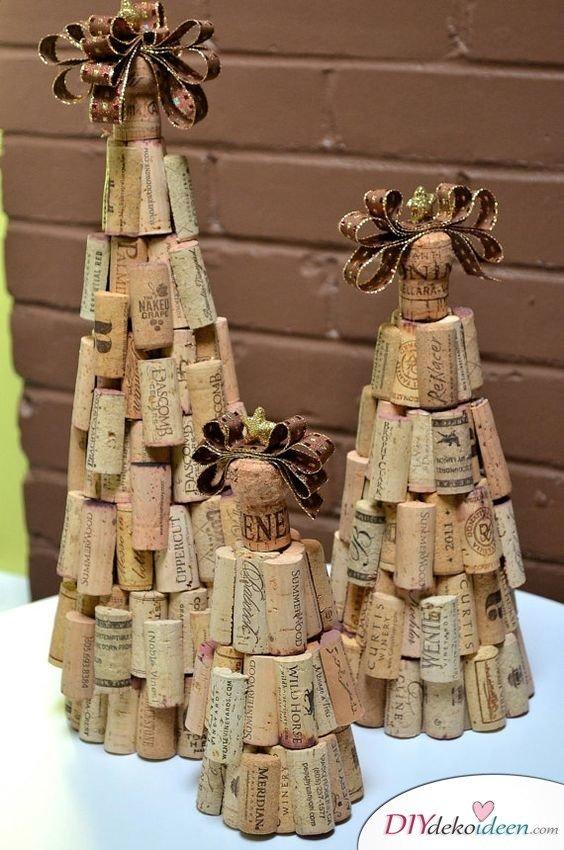 Zu Weihnachten basteln - DIY Bastelideen - basteln mit Korken