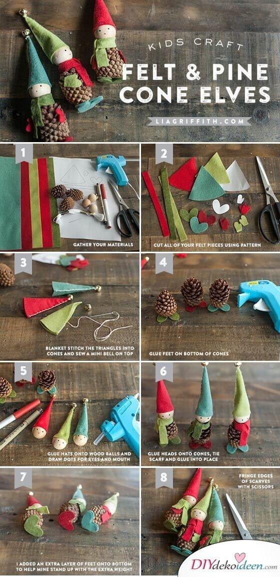 Zu Weihnachten basteln - DIY Bastelideen zum Fest