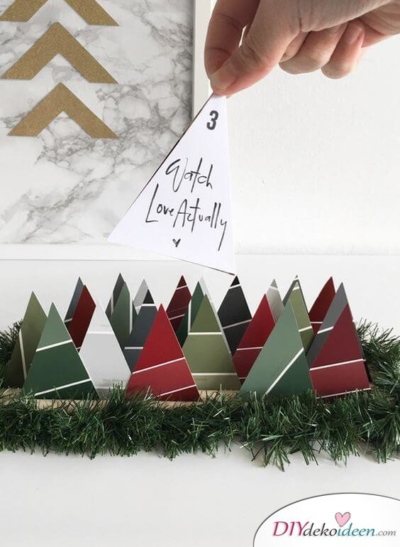 Adventskalender selber basteln - 15 Ideen - Weihnachten 2017 - Bastelideen Advent