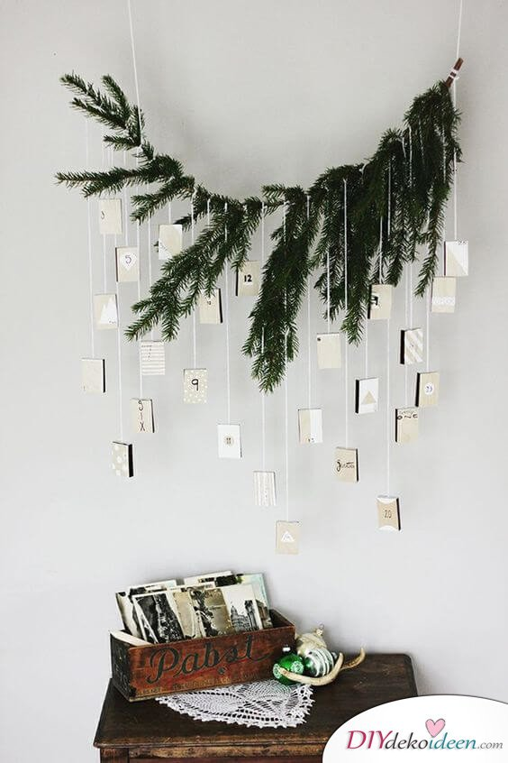 Adventskalender selber basteln - 15 Ideen - Weihnachten 2017 - DIY Bastelideen