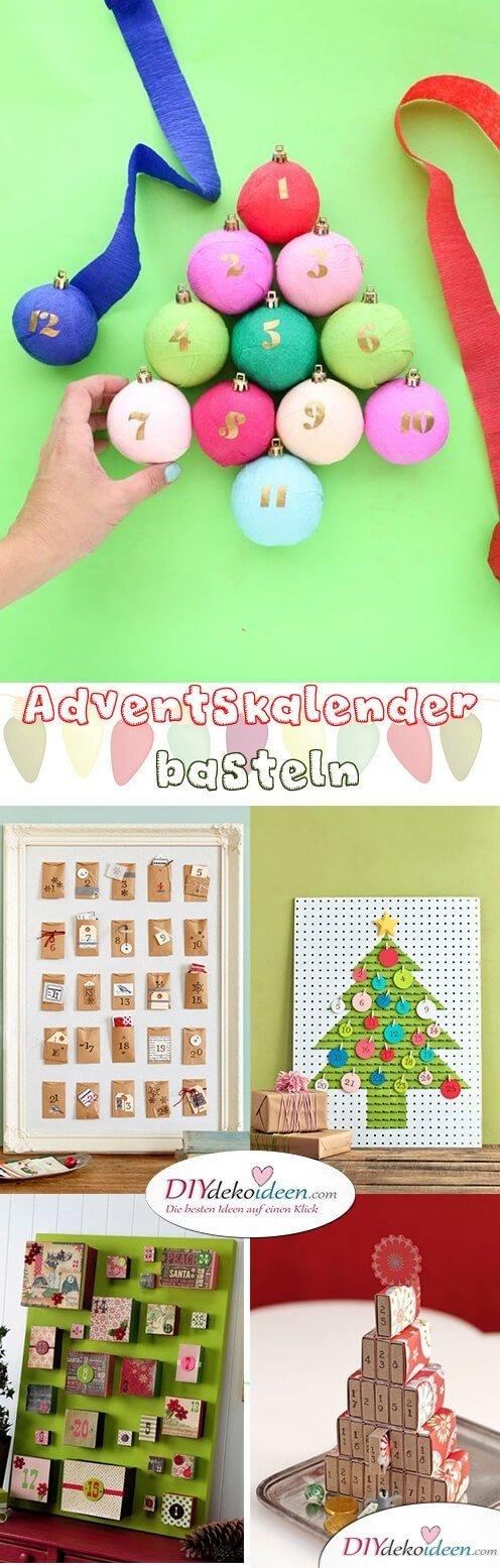 Adventskalender selber basteln - 10+ DIY Bastelideen + Anleitungen