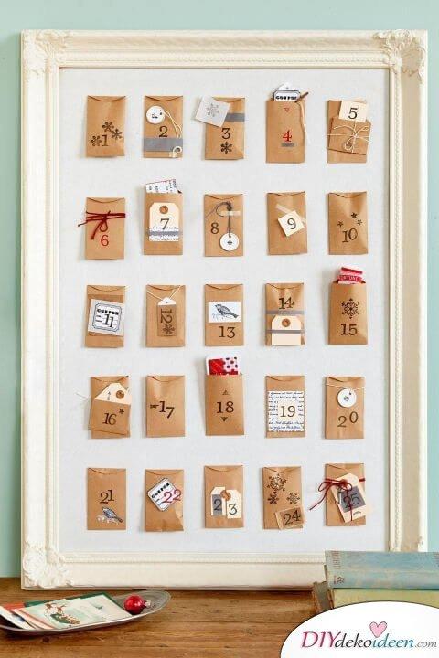 Adventskalender selber basteln - 10+ DIY Bastelideen + Anleitungen - Weihnachten Bastelidee