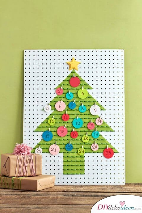 Adventskalender selber basteln - 10+ DIY Bastelideen + Anleitungen - Weihnachten Bastelideen
