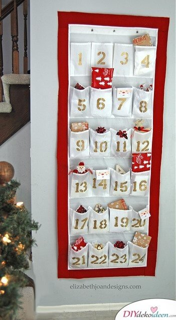 Advent calendar selber bastelen - 10+ DIY Bastideid + + guides - Advent bastel